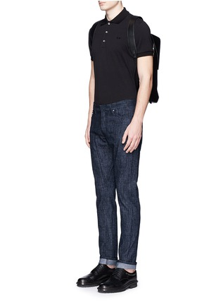 Figure View - Click To Enlarge - Balenciaga - Crosshatch print jeans