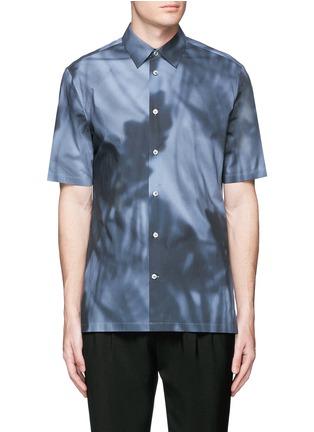 Main View - Click To Enlarge - Balenciaga - Shadow print cotton poplin shirt