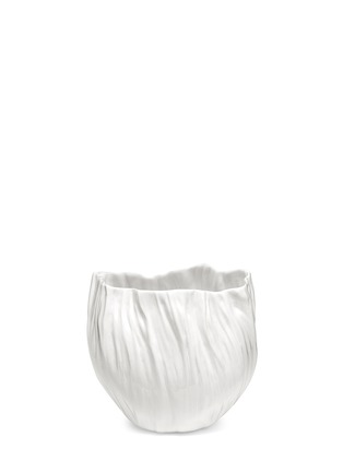 Main View - Click To Enlarge - Xie Dong - Wrinkle bone china vase