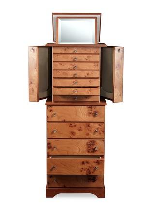 - AGRESTI - Elm briar wood jewellery armoire