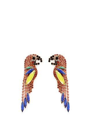 Main View - Click To Enlarge - Elizabeth Cole - 'Paulina' Swarovski crystal parrot drop earrings