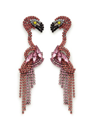 Main View - Click To Enlarge - ELIZABETH COLE - 'Georgy' Swarovski crystal flamingo drop earrings
