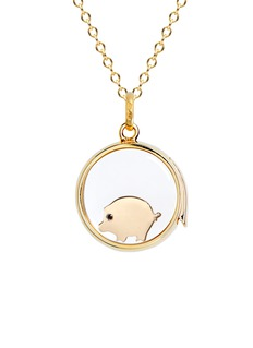 Loquet London 18K YELLOW GOLD SAPPHIRE CHINESE NEW YEAR CHARM - PIG