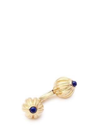 Detail View - Click To Enlarge - MAGNUS & NOVUS - Lapis lazuli lotus cufflinks
