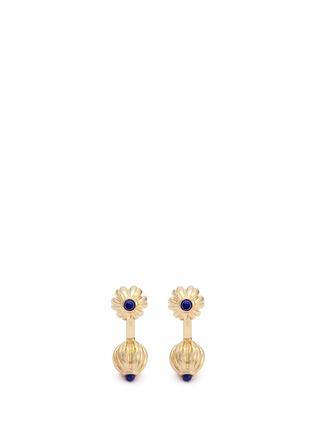 Main View - Click To Enlarge - MAGNUS & NOVUS - Lapis lazuli lotus cufflinks