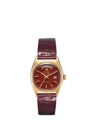 Main View - Click To Enlarge - Lane Crawford Vintage Collection - Vintage Rolex 1806 Day Date Stella dial 18k yellow gold watch