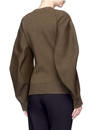 Back View - Click To Enlarge - Balenciaga - Cocoon sleeve wool blend knit sweater