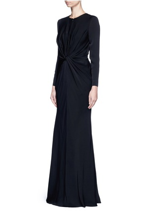 Figure View - Click To Enlarge - Alexander McQueen - Knot detail drape cady gown