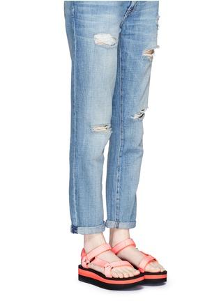 Figure View - Click To Enlarge - TEVA - 'Flatform Universal' candy stripe print sandals