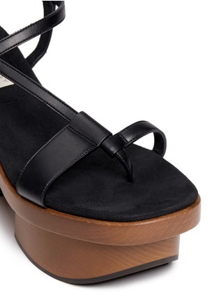 Detail View - Click To Enlarge - Stella McCartney - Chunky wooden heel platform sandals