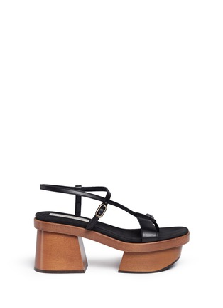 Main View - Click To Enlarge - Stella McCartney - Chunky wooden heel platform sandals