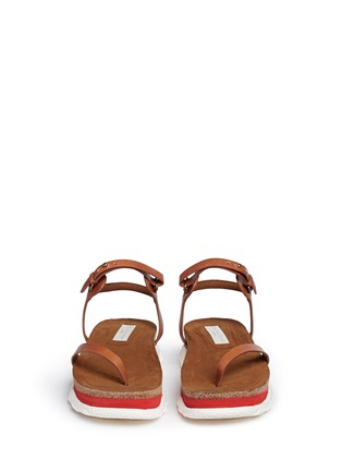 Front View - Click To Enlarge - Stella McCartney - 'Canyon' chunky cork foam sole sandals