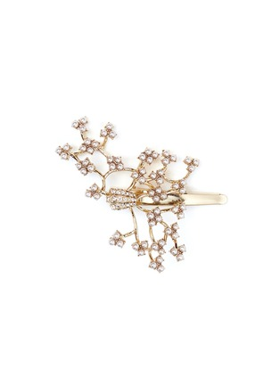 Main View - Click To Enlarge - LULU FROST - 'Jackie' glass seed pearl vine hair clip
