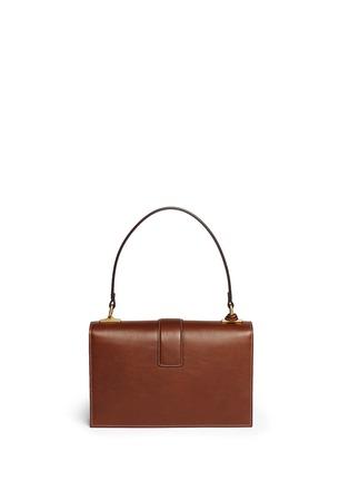 Back View - Click To Enlarge - Gucci - Cat Lock' stud stripe leather handbag