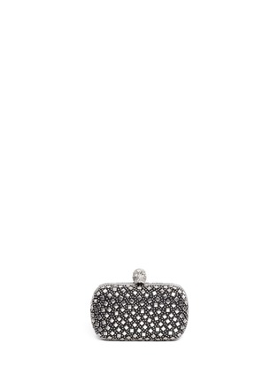 Main View - Click To Enlarge - Alexander McQueen - Stud skull leather box clutch