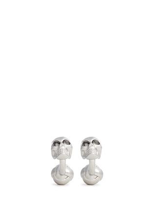 Main View - Click To Enlarge - Alexander McQueen - Crystal skull cufflinks