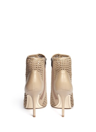 Back View - Click To Enlarge - SAM EDELMAN - Aubriana caged leather sandals
