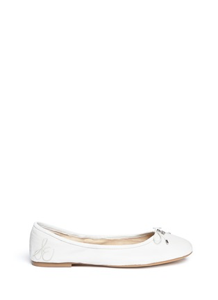 Main View - Click To Enlarge - Sam Edelman - Felicia' leather ballet flats