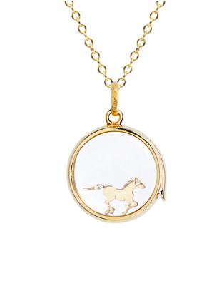 Figure View - Click To Enlarge - LOQUET LONDON - 18K YELLOW GOLD DIAMOND CHINESE NEW YEAR CHARM - HORSE