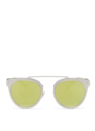 Main View - Click To Enlarge - STEPHANE + CHRISTIAN - 'Adora' pearlescent temple metal front mirror sunglasses