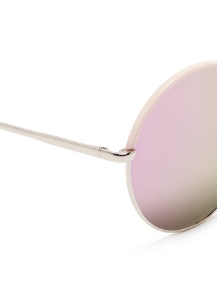 Detail View - Click To Enlarge - STEPHANE + CHRISTIAN - 'Cantabile' coated rim round metal mirror sunglasses