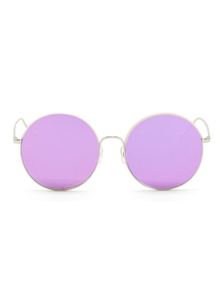Main View - Click To Enlarge - STEPHANE + CHRISTIAN - 'Cantabile' coated rim round metal mirror sunglasses