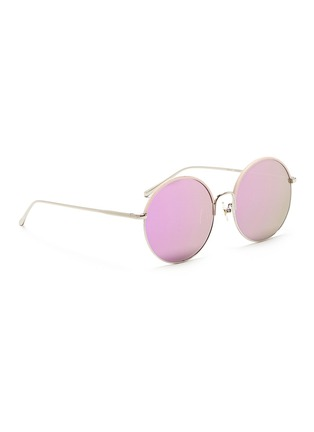 Figure View - Click To Enlarge - STEPHANE + CHRISTIAN - 'Cantabile' coated rim round metal mirror sunglasses
