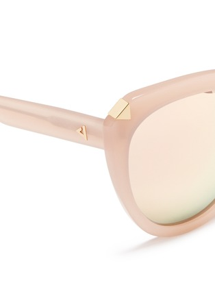 Detail View - Click To Enlarge - Stephane + Christian - 'Moka' acetate round cat eye mirror sunglasses