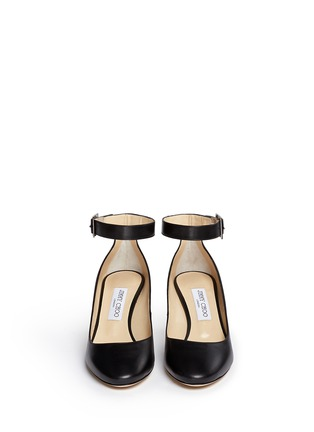 Front View - Click To Enlarge - Jimmy Choo - 'Helena' ankle strap kid leather pumps