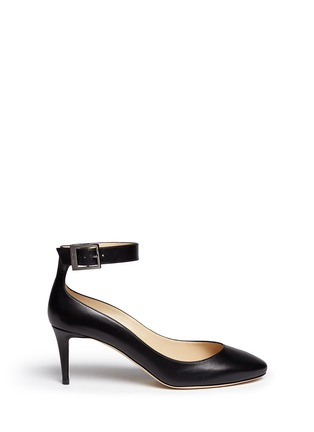 Main View - Click To Enlarge - Jimmy Choo - 'Helena' ankle strap kid leather pumps