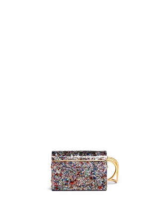 Back View - Click To Enlarge - Jimmy Choo - 'Lockett' confetti glitter acrylic clutch