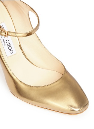 Detail View - Click To Enlarge - Jimmy Choo - 'Marlowe' mirror leather Mary Jane pumps