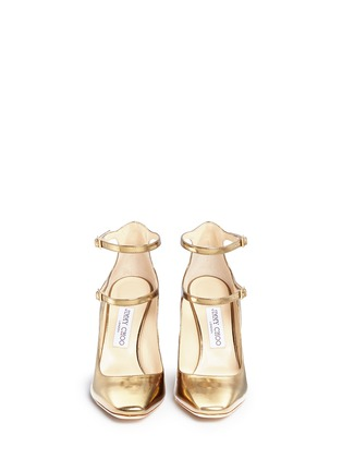 Front View - Click To Enlarge - Jimmy Choo - 'Marlowe' mirror leather Mary Jane pumps