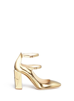 Main View - Click To Enlarge - Jimmy Choo - 'Marlowe' mirror leather Mary Jane pumps