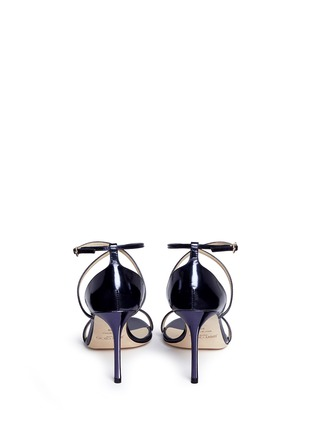 Back View - Click To Enlarge - JIMMY CHOO - 'Hesper 85' crisscross strap leather sandals
