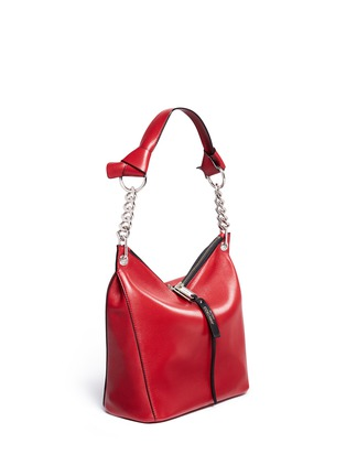 Front View - Click To Enlarge - Jimmy Choo - 'Raven' small leather shoulder bag