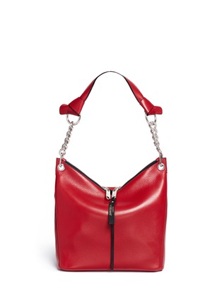 Main View - Click To Enlarge - Jimmy Choo - 'Raven' small leather shoulder bag