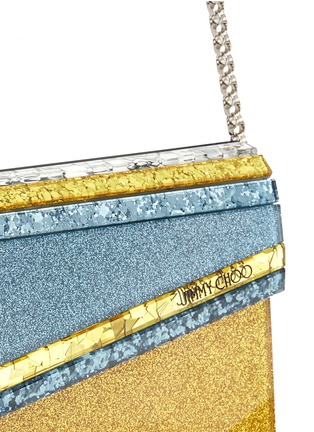 Detail View - Click To Enlarge - Jimmy Choo - 'Candy' glitter paillette acrylic clutch