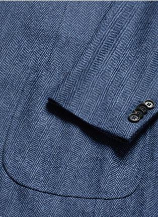 - ISAIA - 'Cortina' herringbone wool blazer