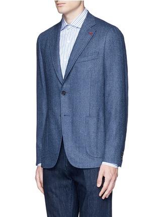 Front View - Click To Enlarge - ISAIA - 'Cortina' herringbone wool blazer