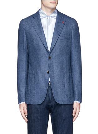 Main View - Click To Enlarge - ISAIA - 'Cortina' herringbone wool blazer