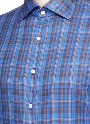 Detail View - Click To Enlarge - ISAIA - 'Como' check cotton shirt