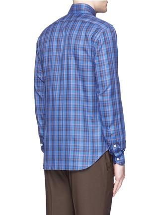 Back View - Click To Enlarge - ISAIA - 'Como' check cotton shirt