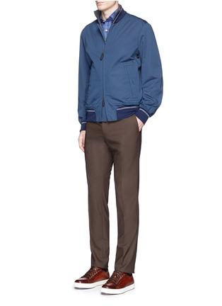 Figure View - Click To Enlarge - ISAIA - 'Como' check cotton shirt