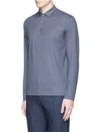 Front View - Click To Enlarge - ISAIA - Cashmere-cotton polo shirt