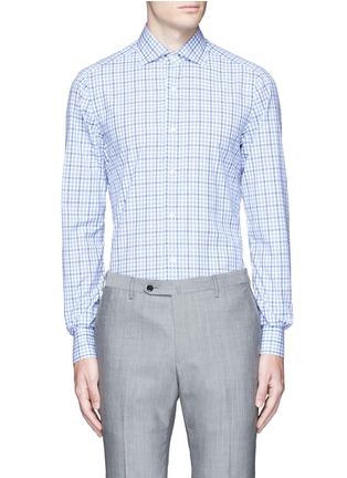 Main View - Click To Enlarge - ISAIA - 'Milano' check cotton shirt