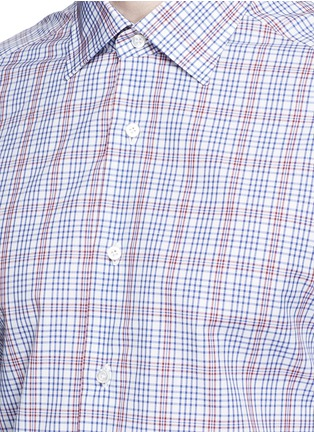 Detail View - Click To Enlarge - ISAIA - 'Parma' check cotton shirt