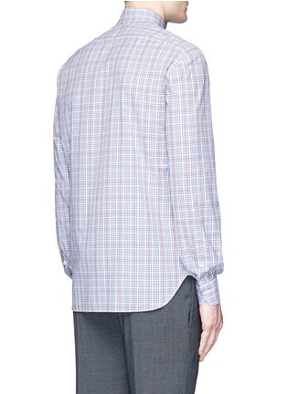 Back View - Click To Enlarge - ISAIA - 'Parma' check cotton shirt