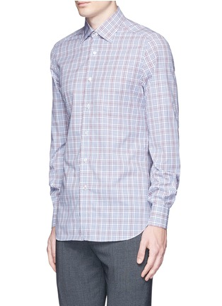 Front View - Click To Enlarge - ISAIA - 'Parma' check cotton shirt