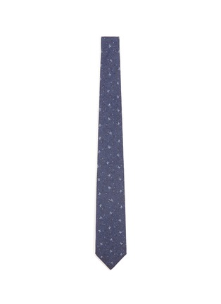 Main View - Click To Enlarge - ISAIA - Coral dot print herringbone tie